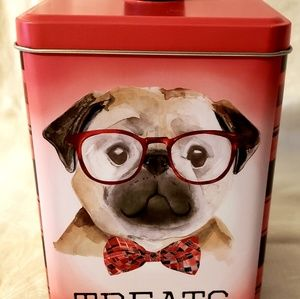 Brand New Treats Tin with Pug & Corgies